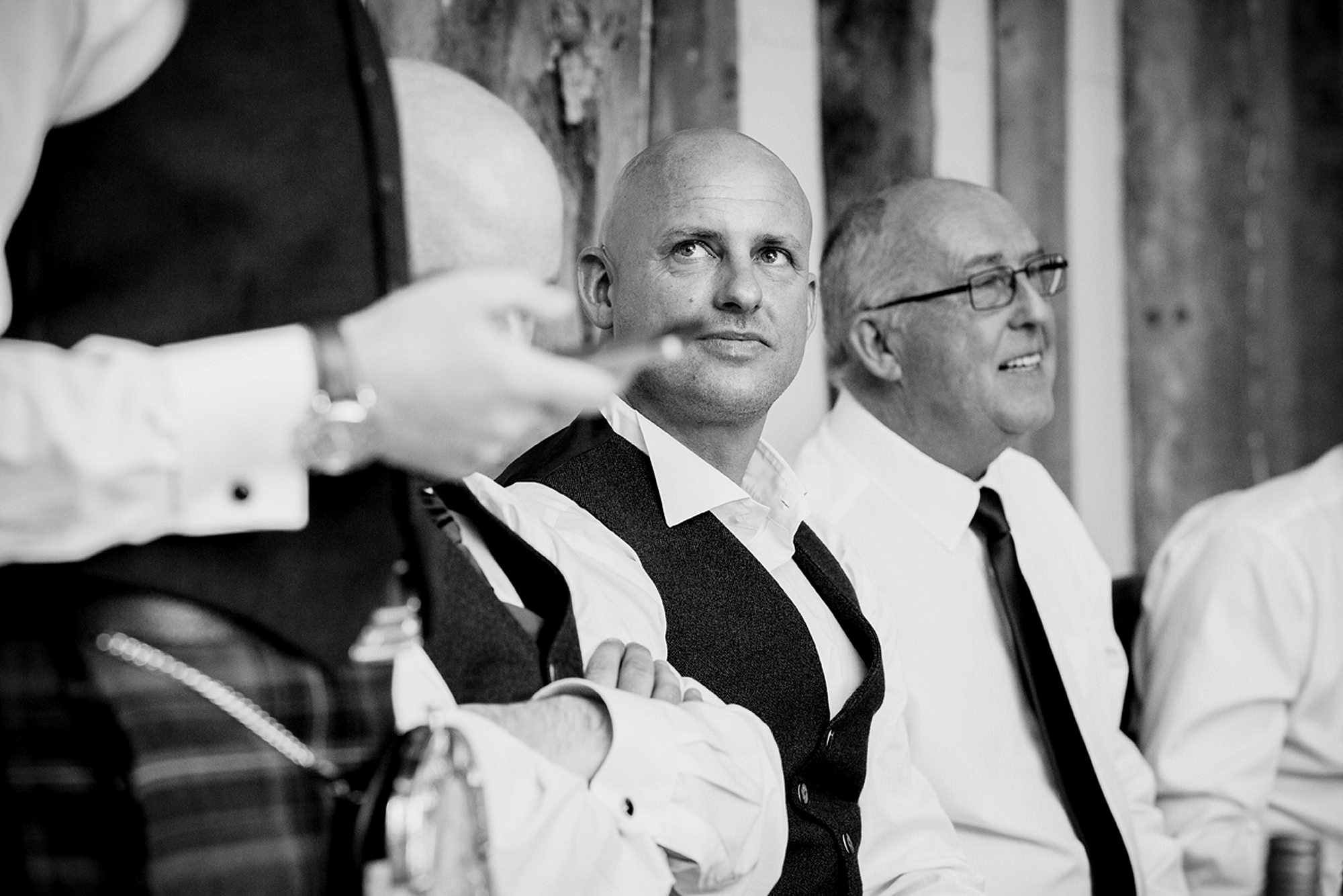 outdoor humanist wedding photography best man during speeches