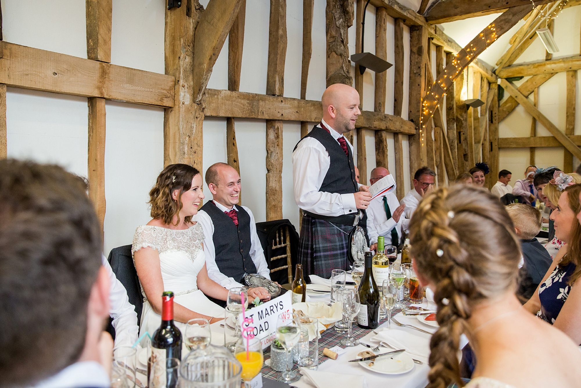 outdoor humanist wedding photography best man giving speech