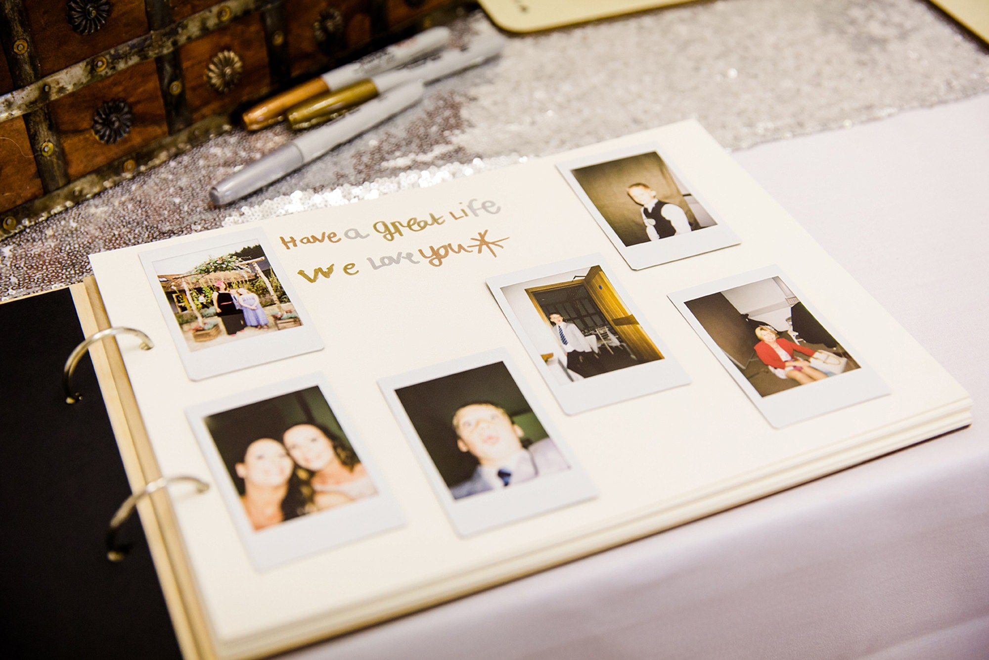 outdoor humanist wedding photography wedding guest book