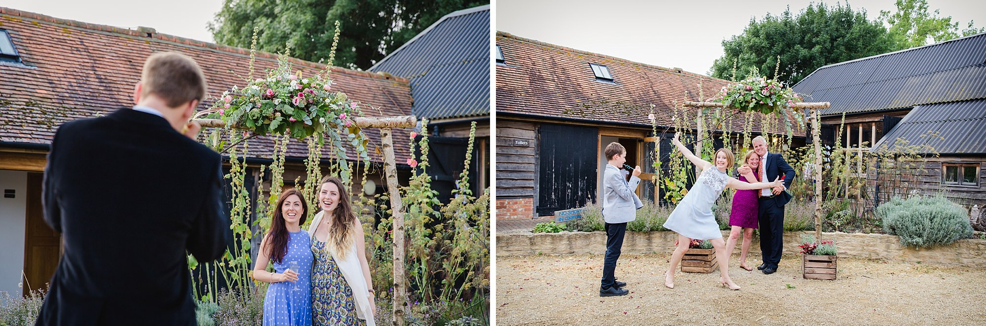 outdoor humanist wedding photography wedding guests