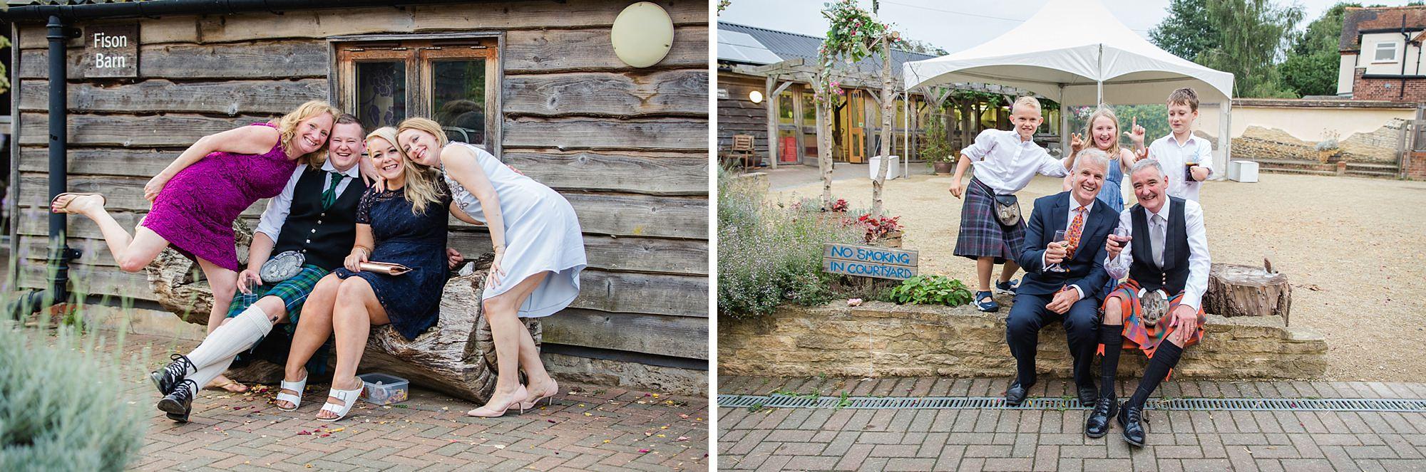 outdoor humanist wedding photography fun wedding guests