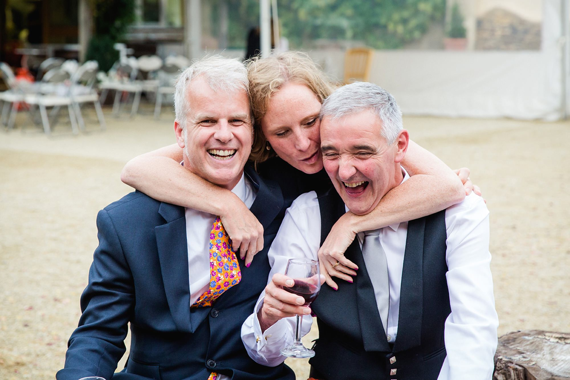 outdoor humanist wedding photography fun guest portrait