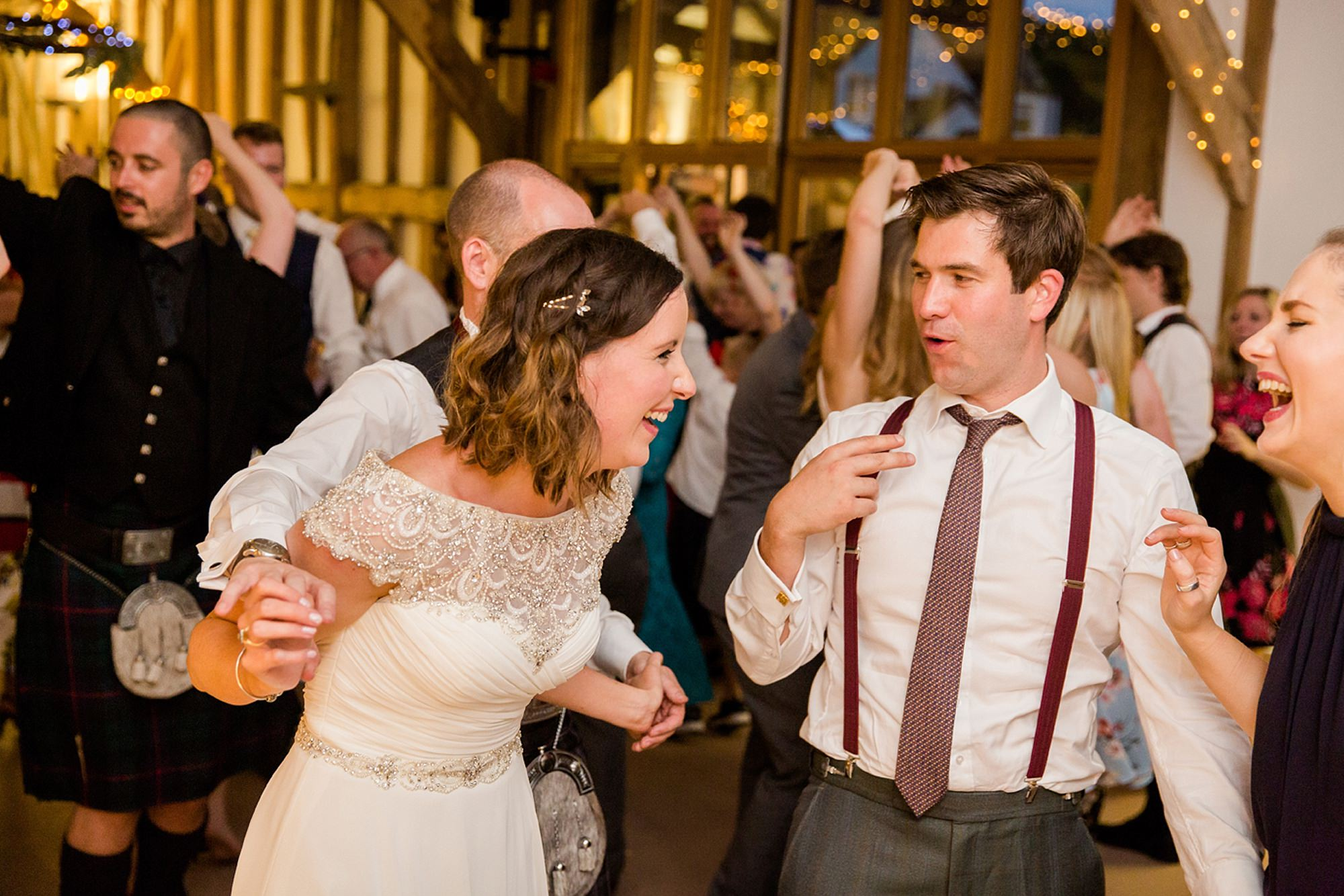 Outdoor humanist wedding photography ceilidh dance