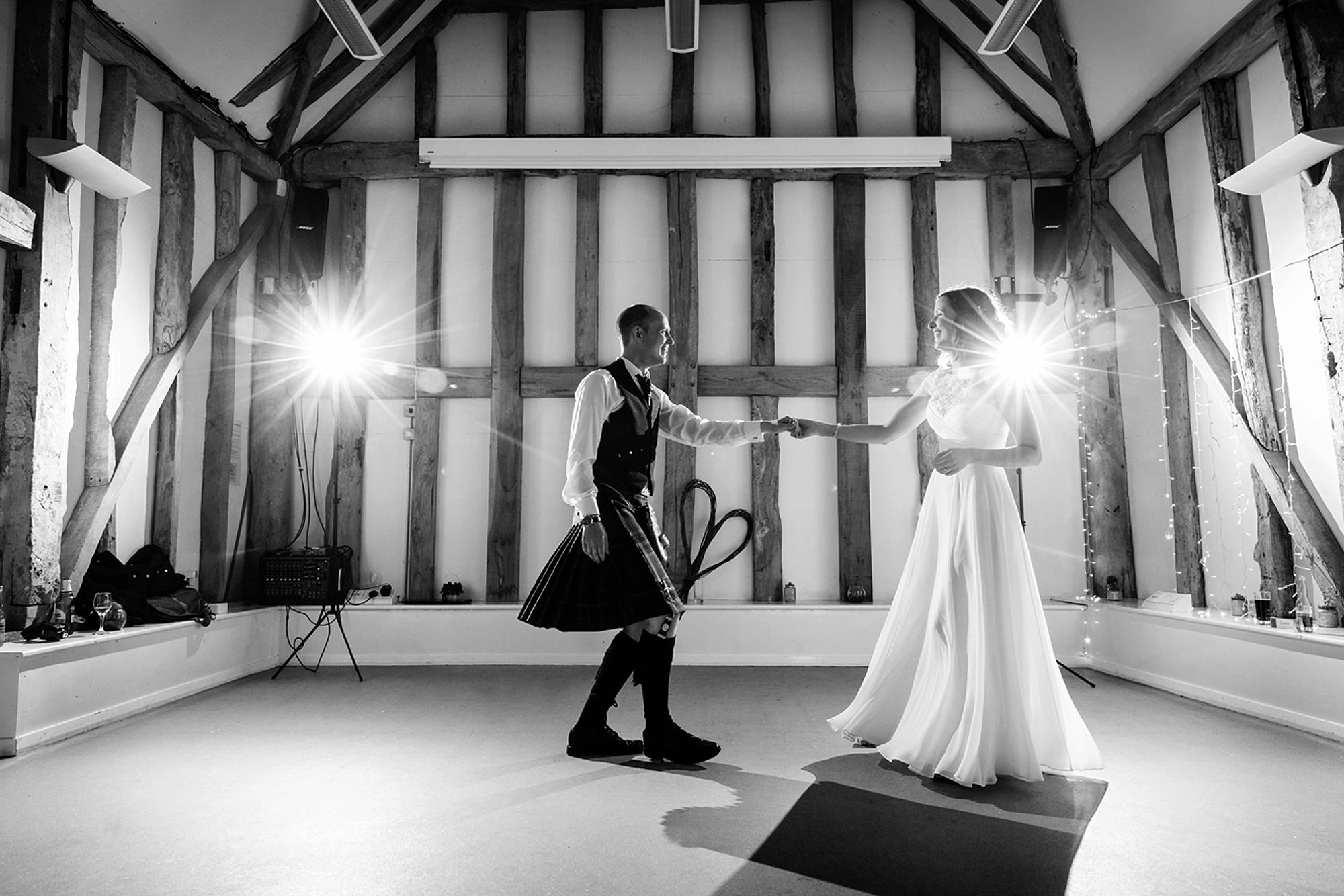 Outdoor humanist wedding photography first dance
