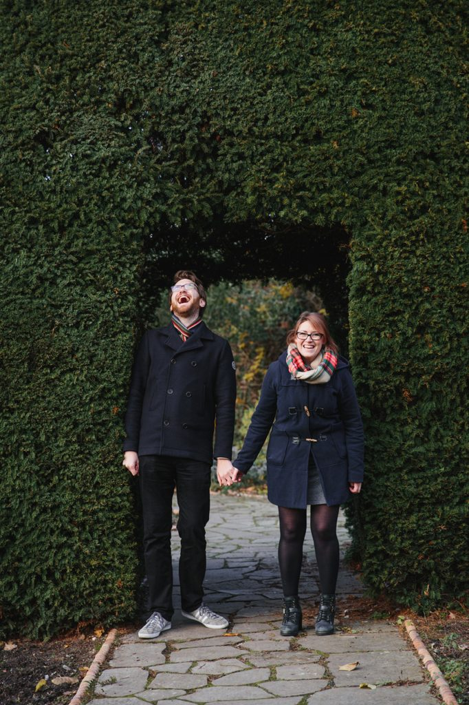 Brockwell Park engagement shoot – Ann and Matthew in the Walled Garden