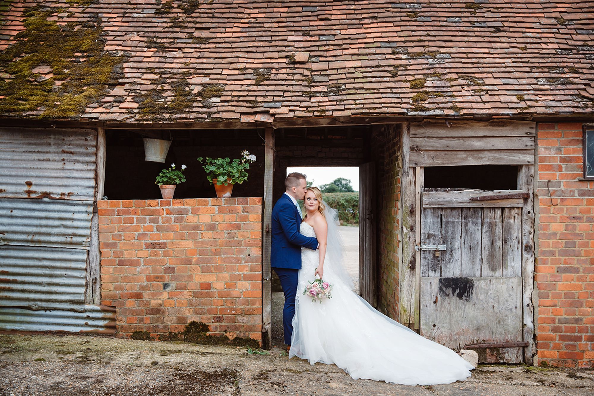 Old Greens Barn Newdigate wedding photography portraits in barns