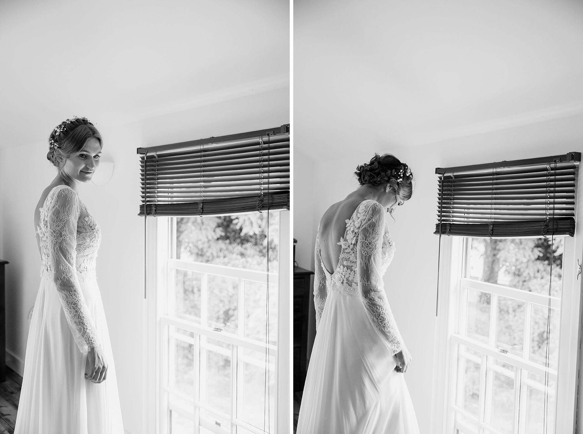 Marks Hall Estate wedding photography bride in wedding dress