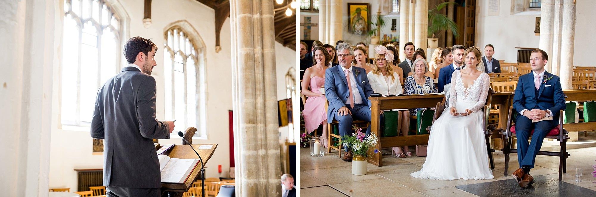 Marks Hall Estate wedding photography wedding reading