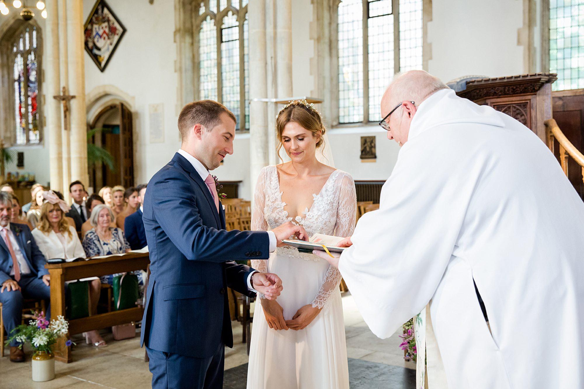 Marks Hall Estate wedding photography bride and groom wedding ceremony