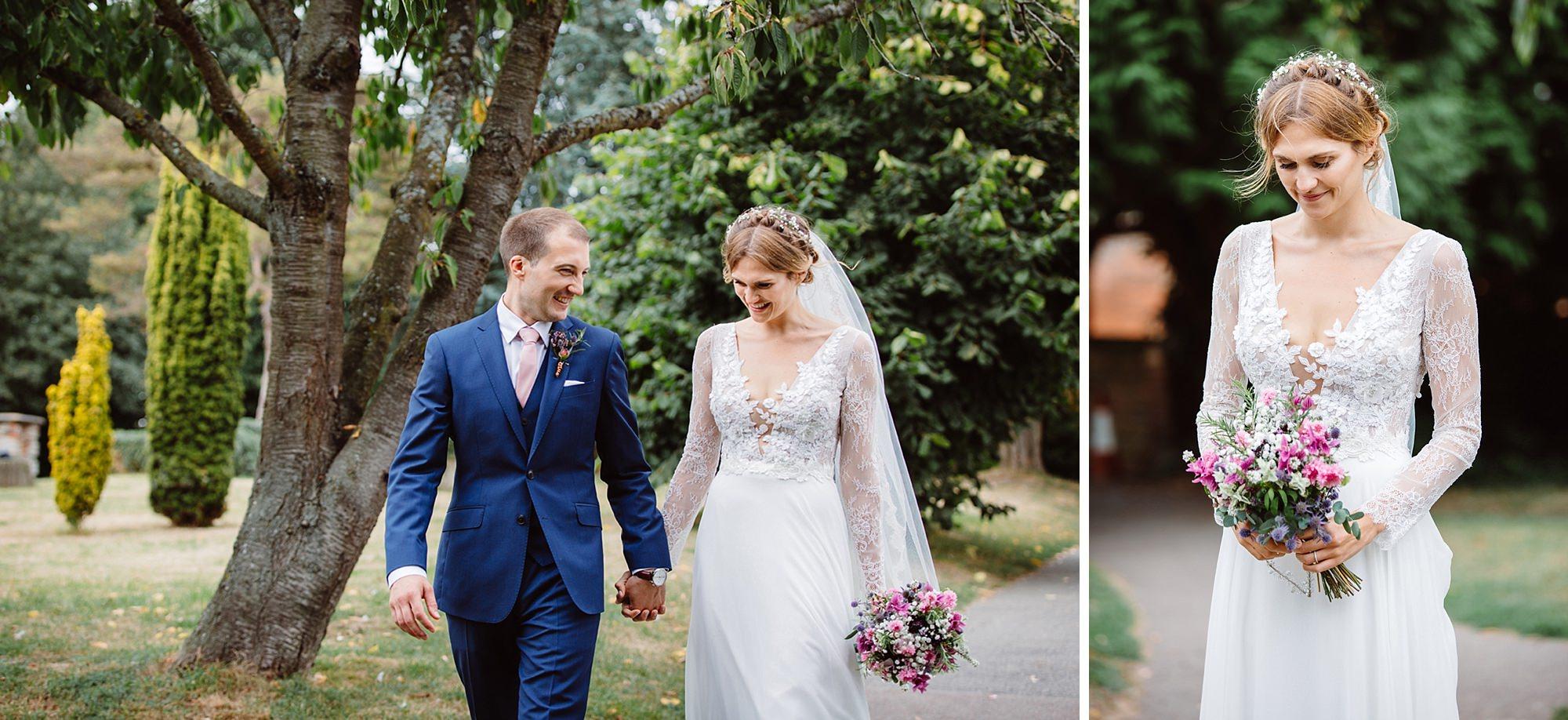 Marks Hall Estate wedding photography portrait of bride