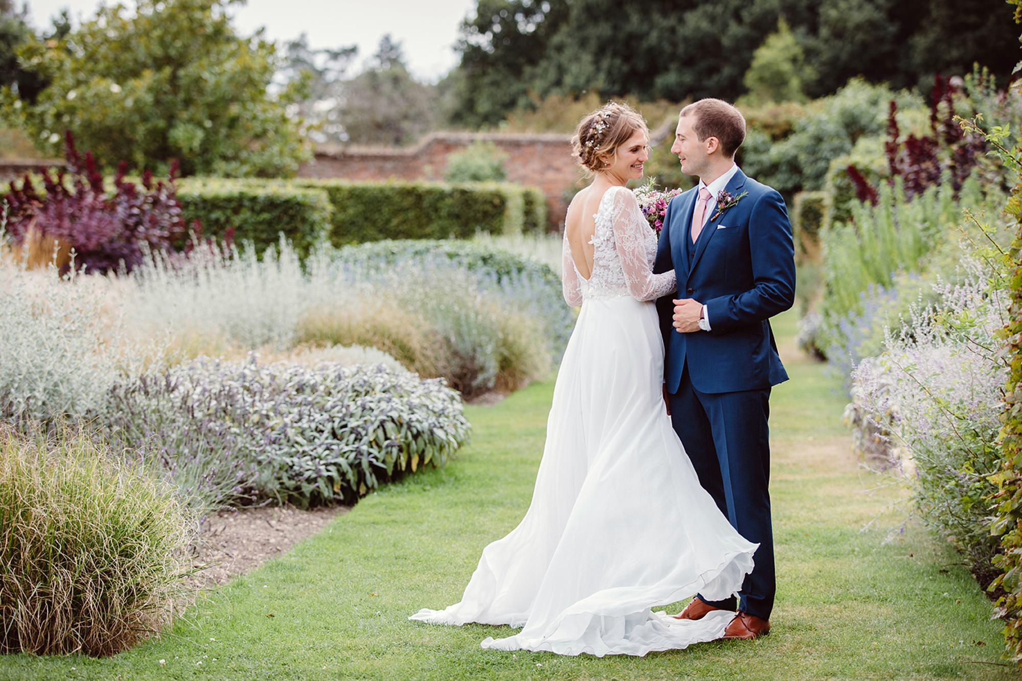 Marks Hall Estate wedding photography bride and groom together