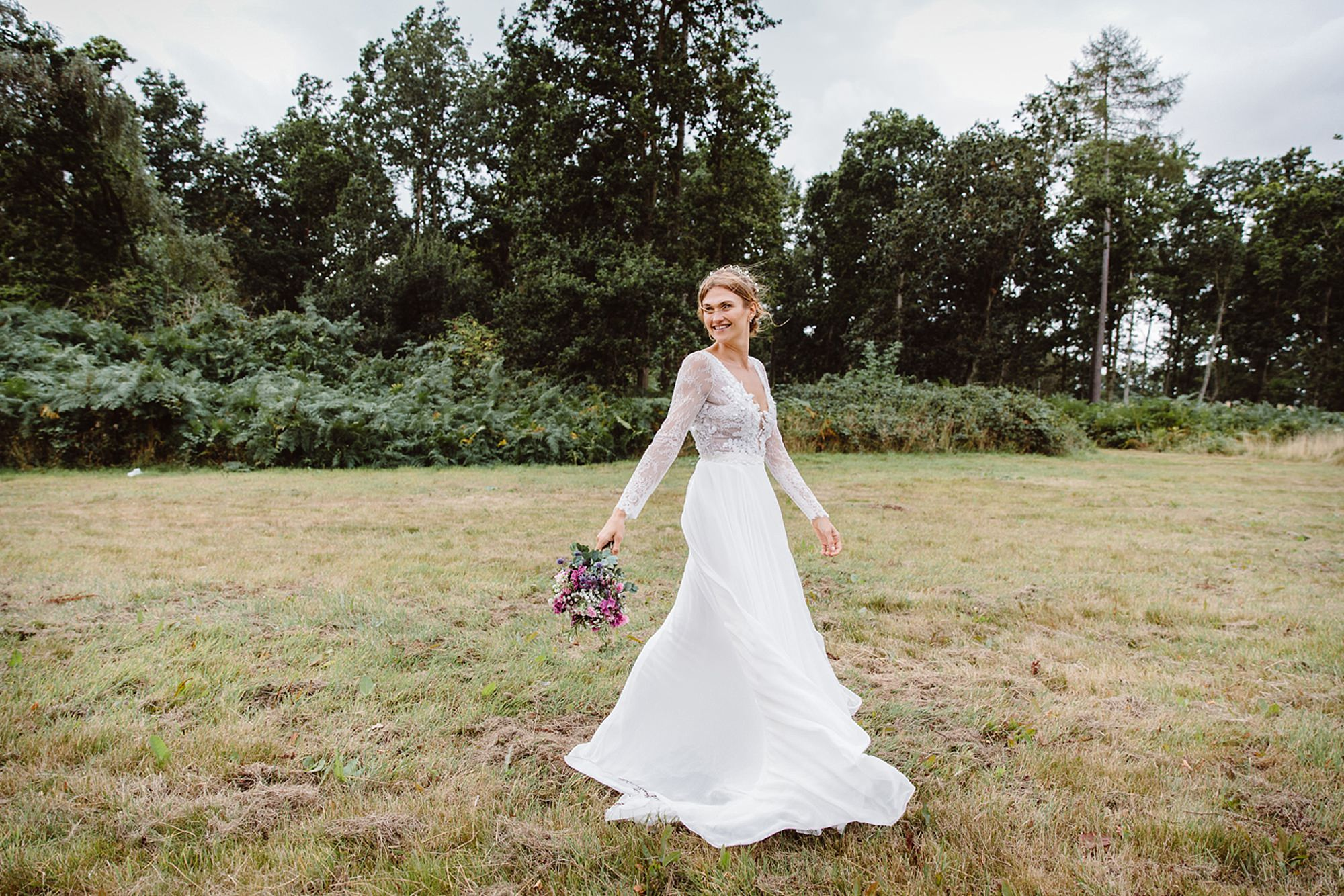 Marks Hall Estate wedding photography portrait of bride