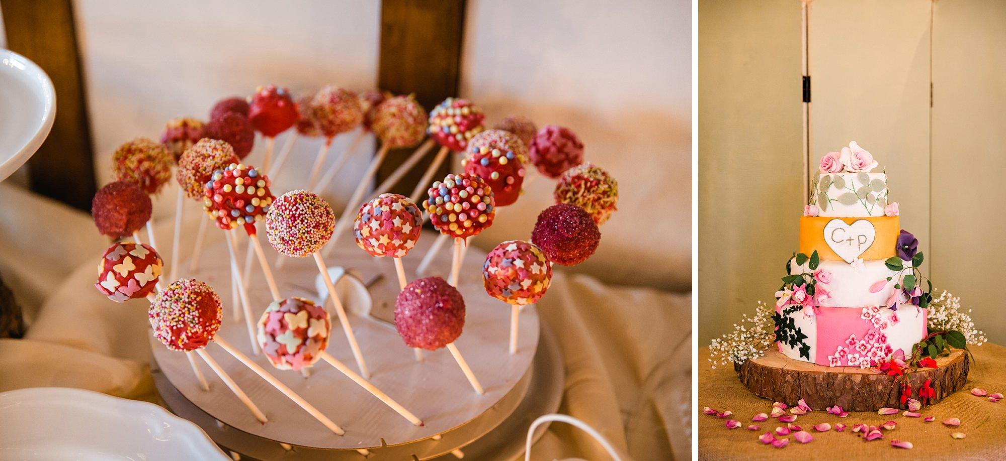 Marks Hall Estate wedding photography wedding cake and cake pops