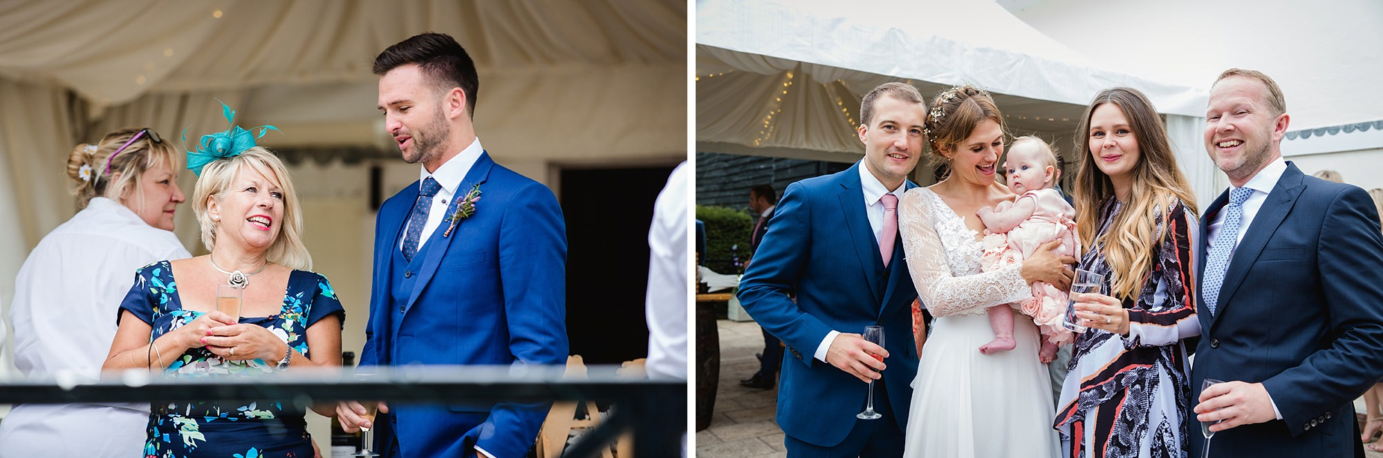 Marks Hall Estate wedding photography wedding guests during reception