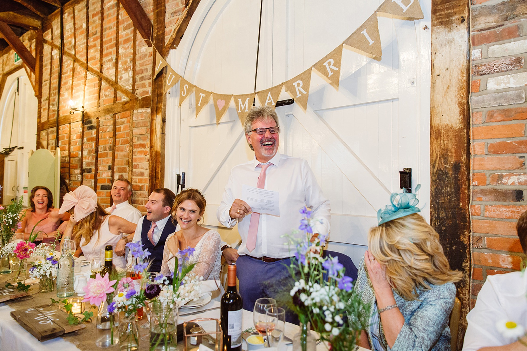 Marks Hall Estate wedding photography father of bride speech