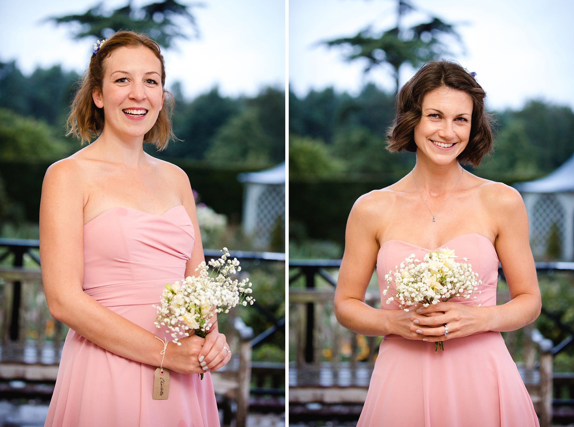 Marks Hall Estate wedding photography portrait of bridesmaids