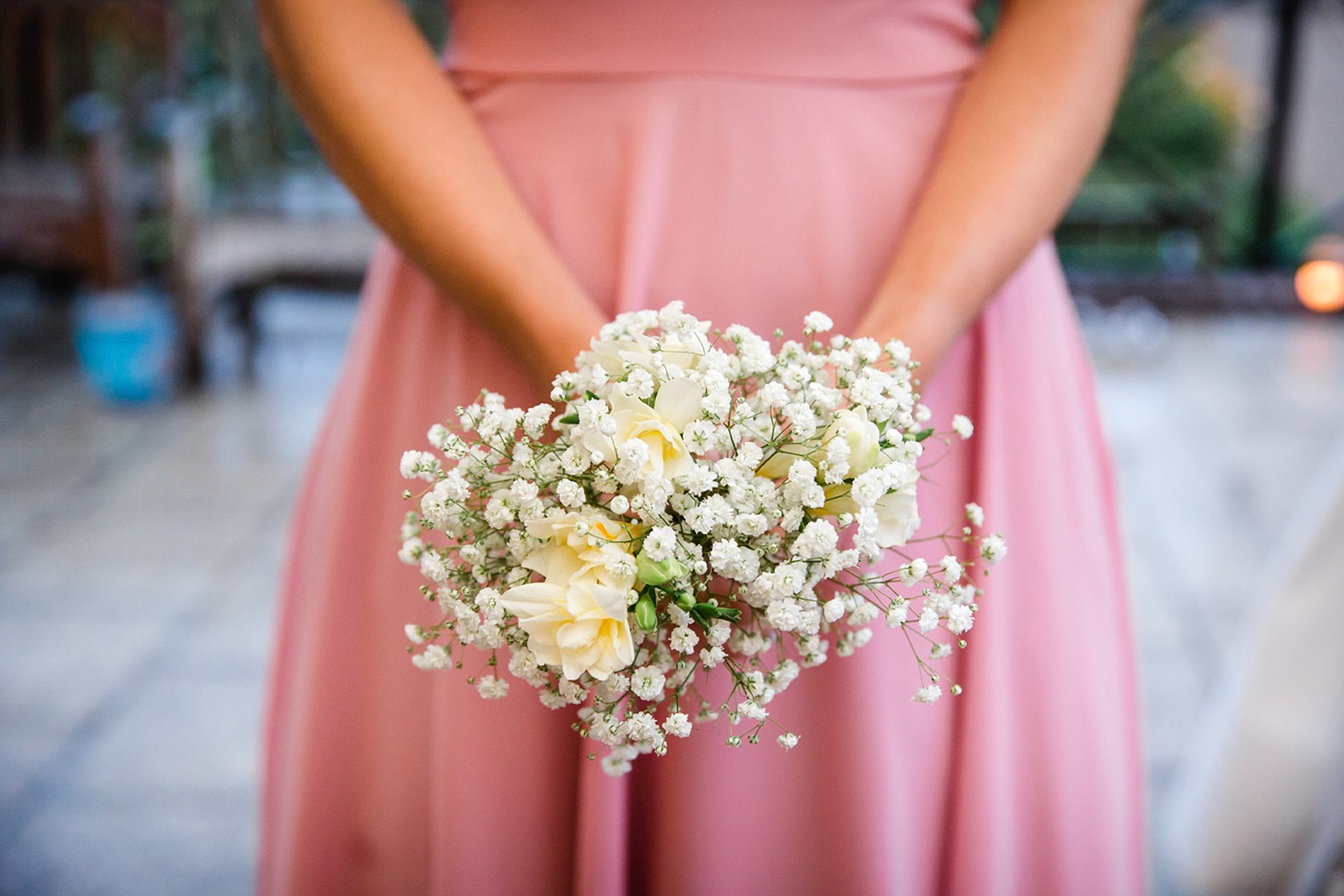 Marks Hall Estate wedding photography bridesmaids bouquet