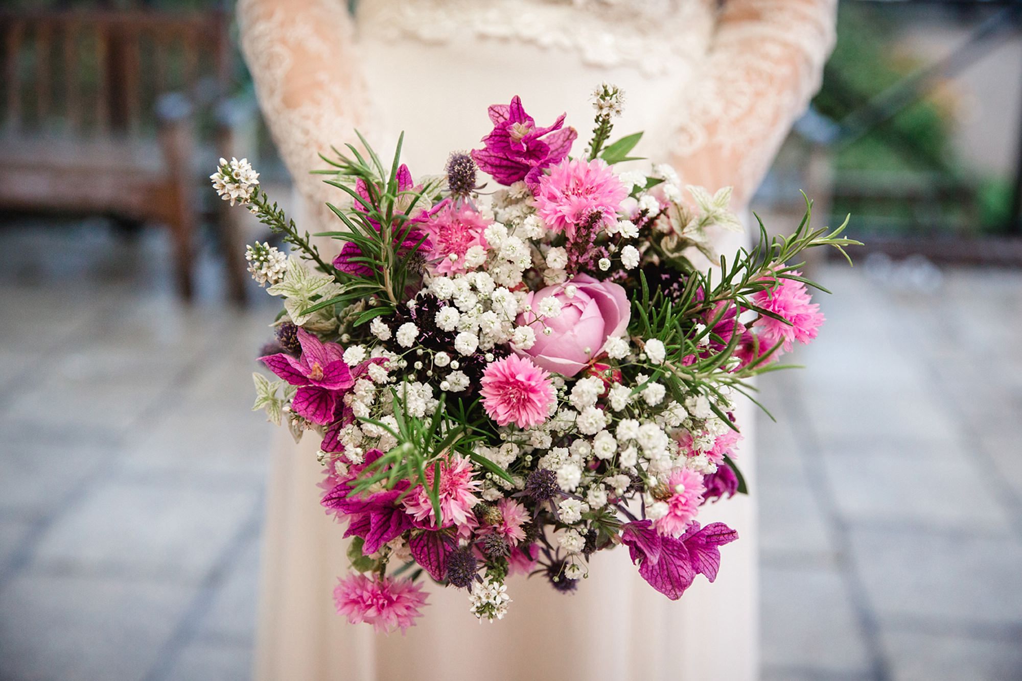 Marks Hall Estate wedding photography bride's bouquet