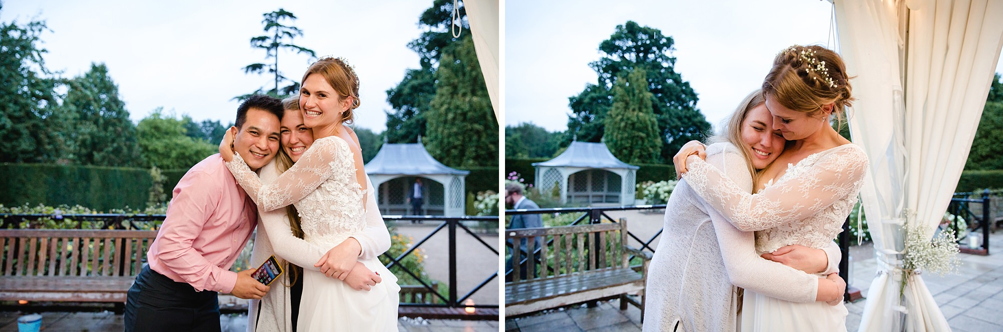 Marks Hall Estate wedding photography bride and guests