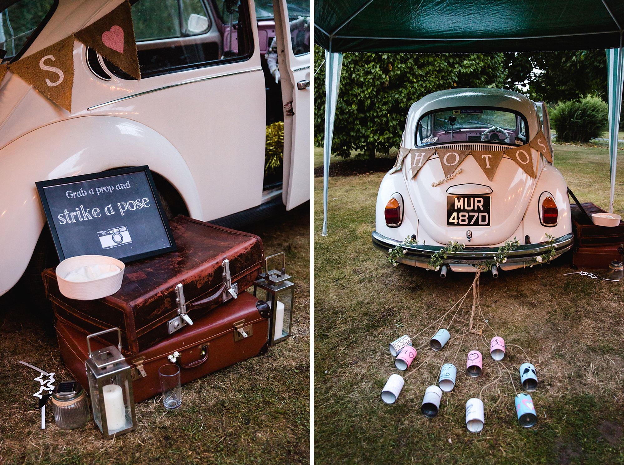 Marks Hall Estate wedding photography vintage car Photo Booth