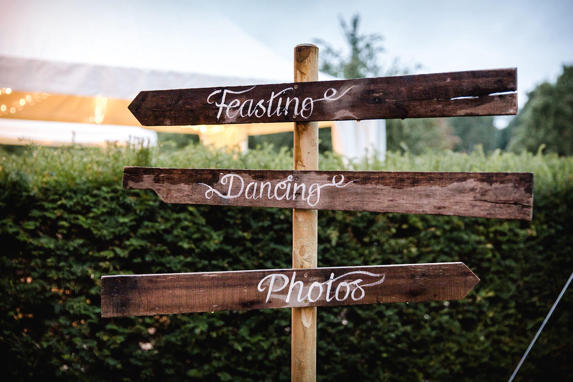 Marks Hall Estate wedding photography DIY wedding signs