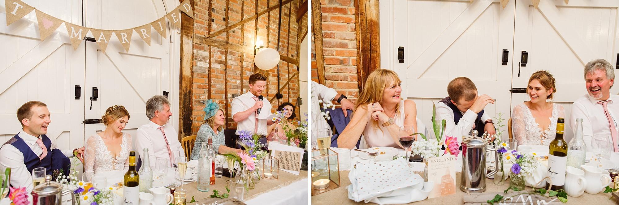 Marks Hall Estate wedding photography best man speech