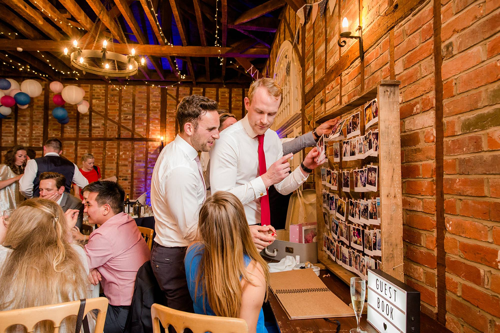 Marks Hall Estate wedding photography guests with guest book
