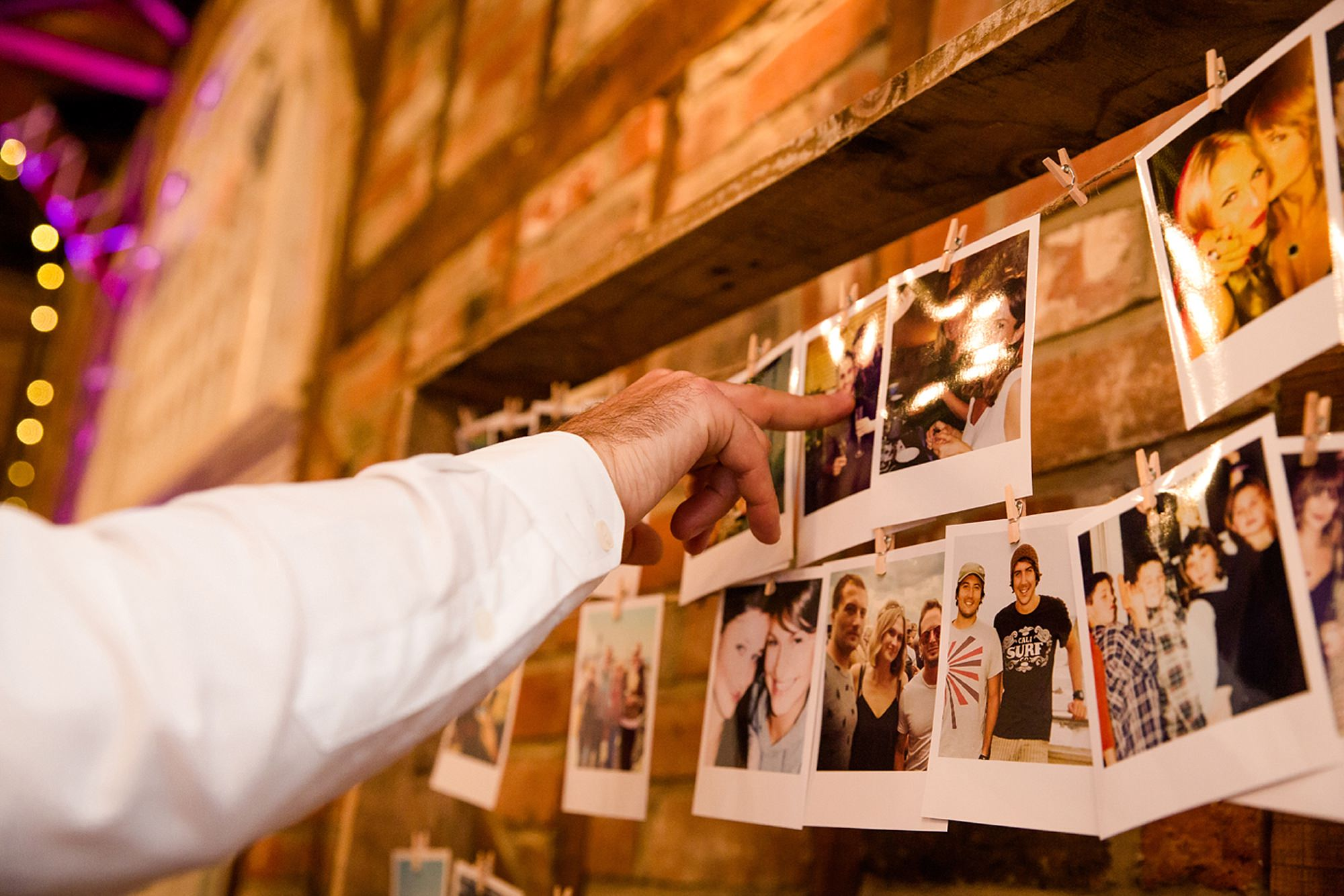 Marks Hall Estate wedding photography guest and polaroids