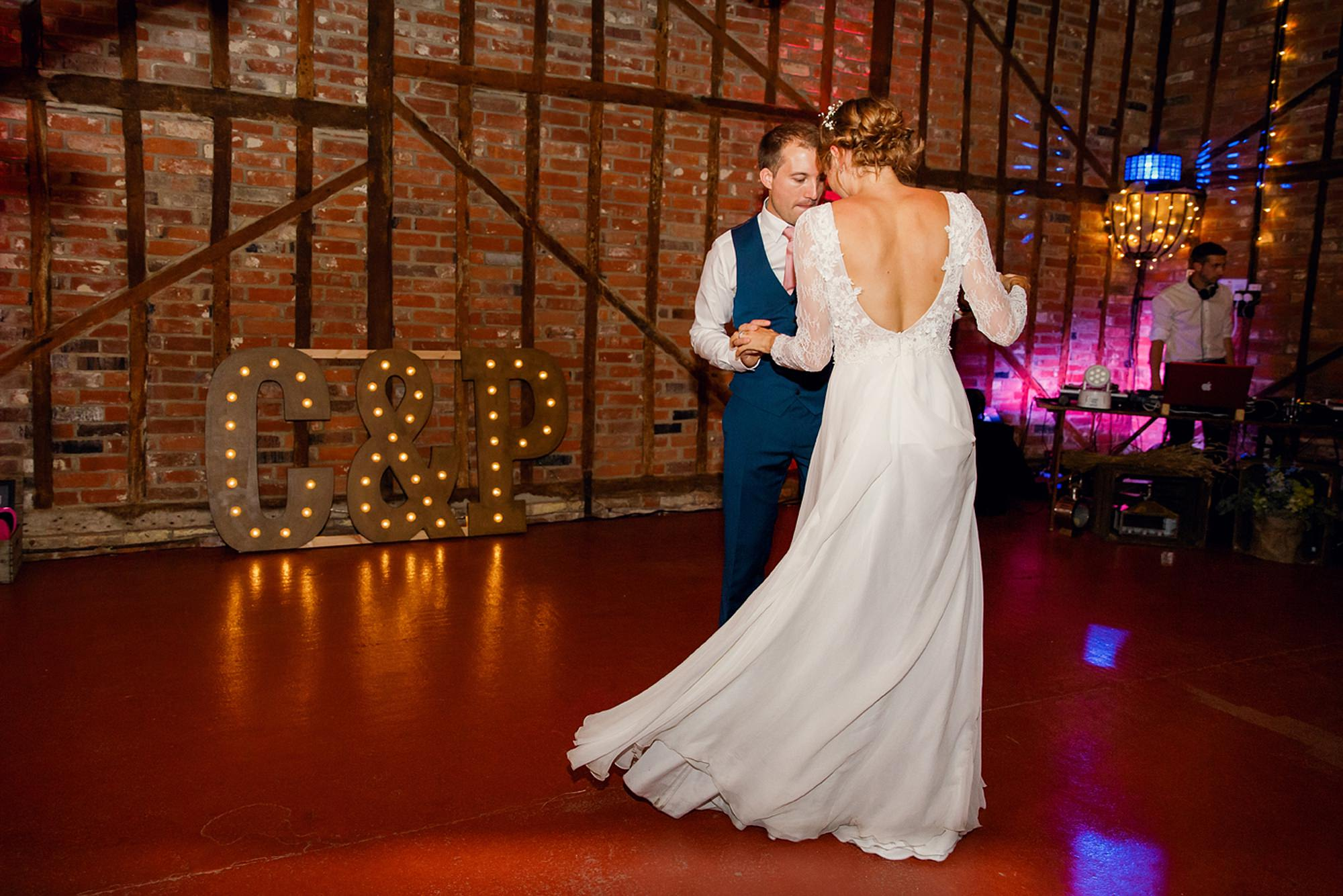 Marks Hall Estate wedding photography first dance