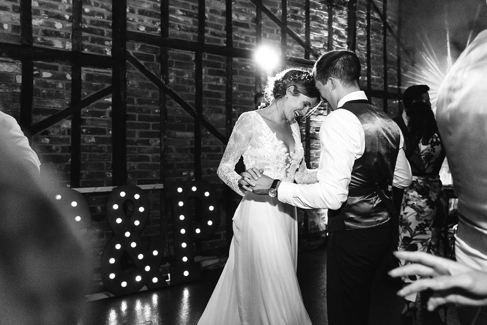 Marks Hall Estate wedding photography bride and groom dancing