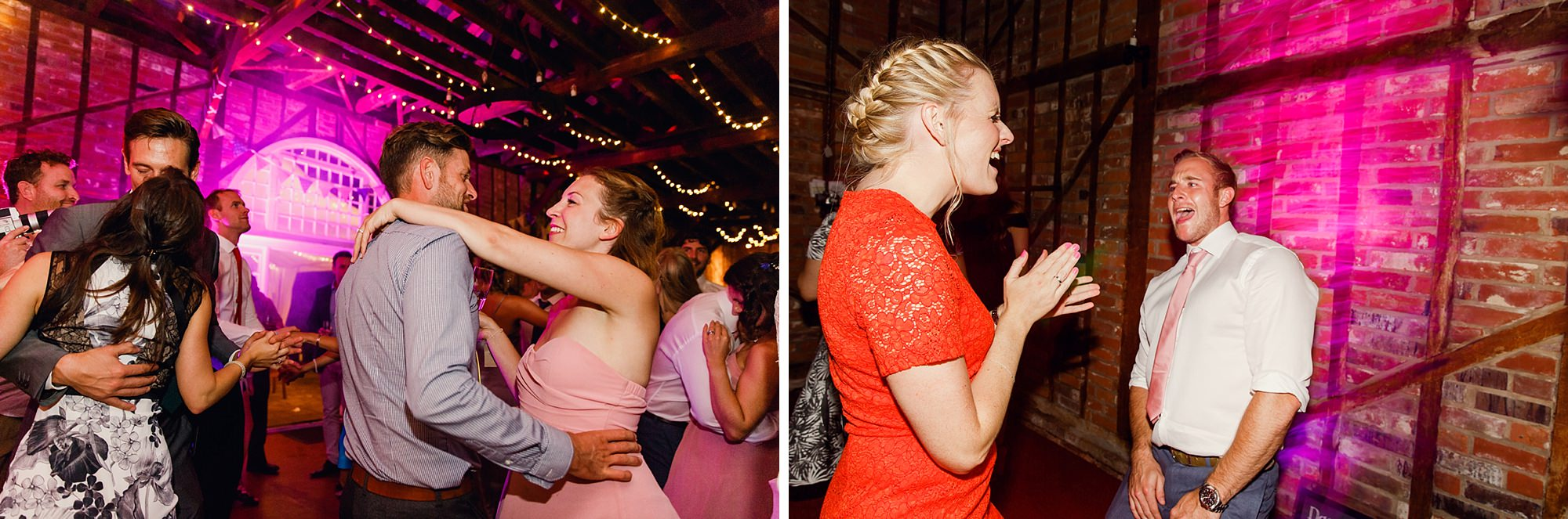 Marks Hall Estate wedding photography dancing guests