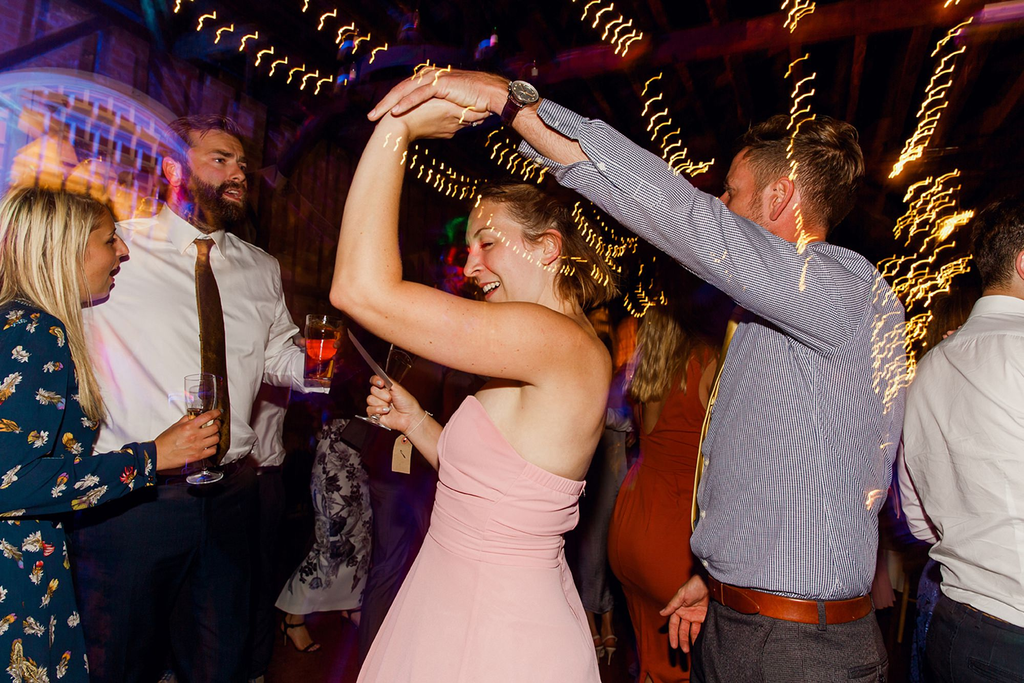 Marks Hall Estate wedding photography wedding guests dancing