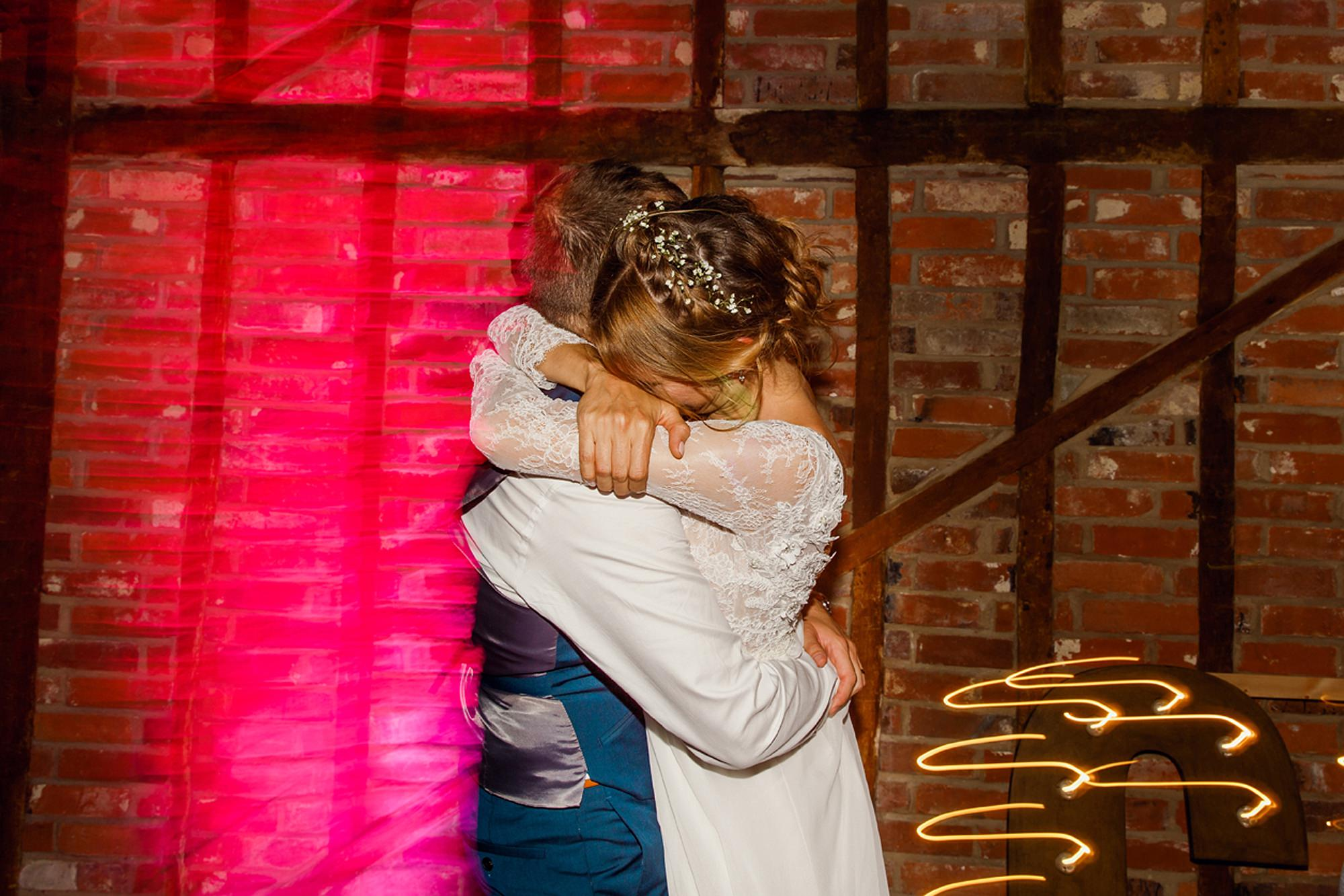Marks Hall Estate wedding photography bride and groom on dance floor