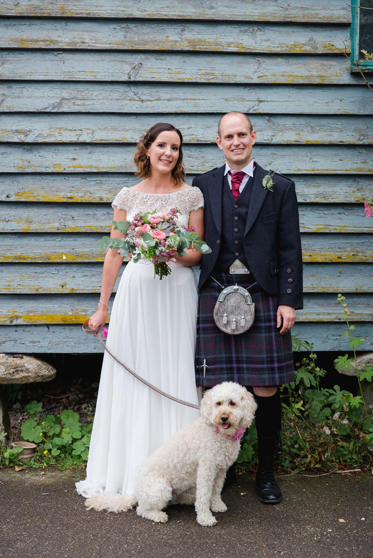 sarah ann wright wedding dog