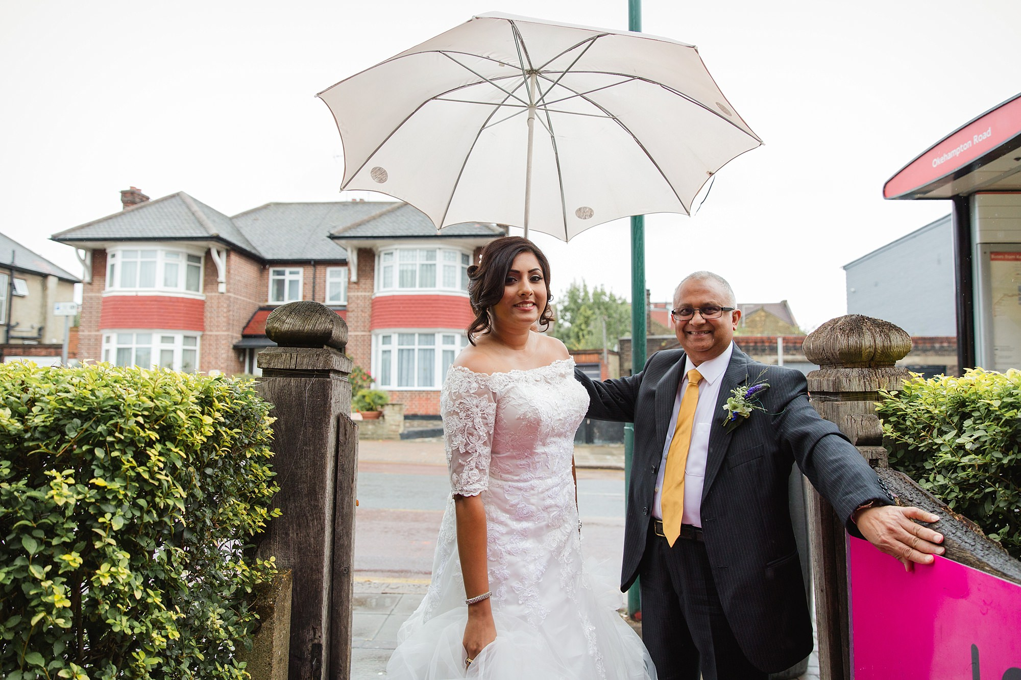 Paradise by way of Kensal Green wedding arrival of bride