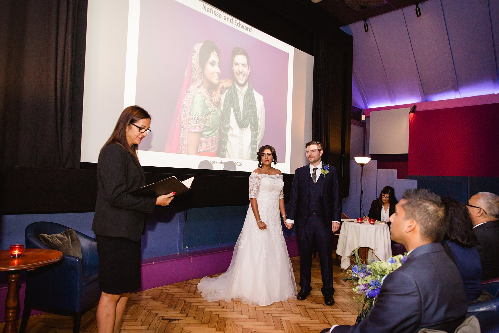 Paradise by way of Kensal Green wedding ceremony at Lexi cinema