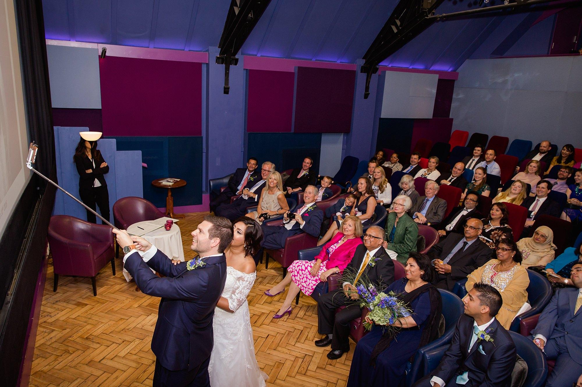 Paradise by way of Kensal Green wedding bride and groom selfie