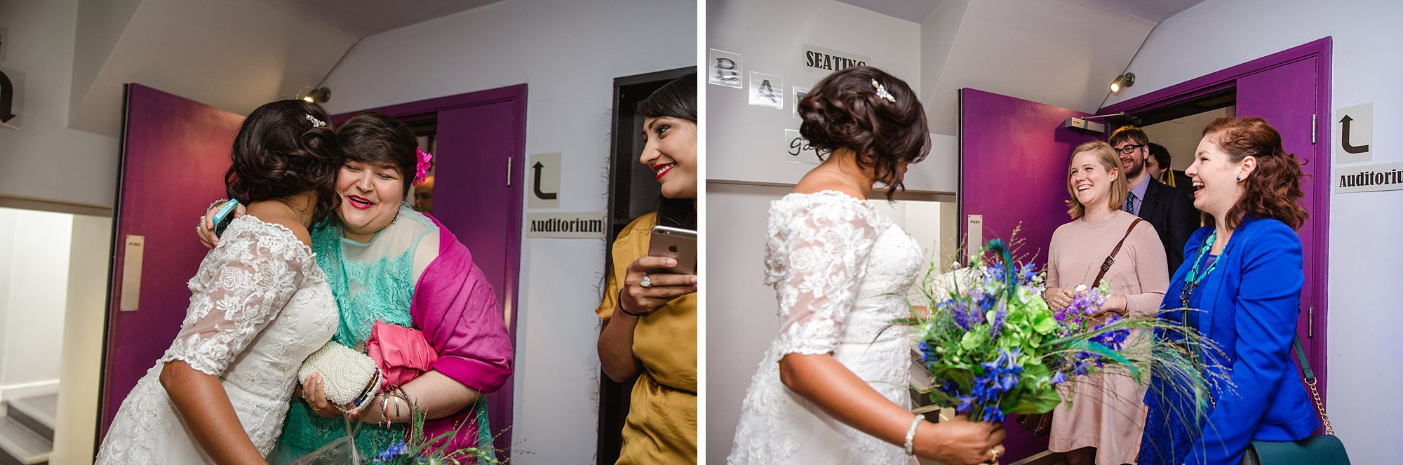 Paradise by way of Kensal Green wedding bride greets guests