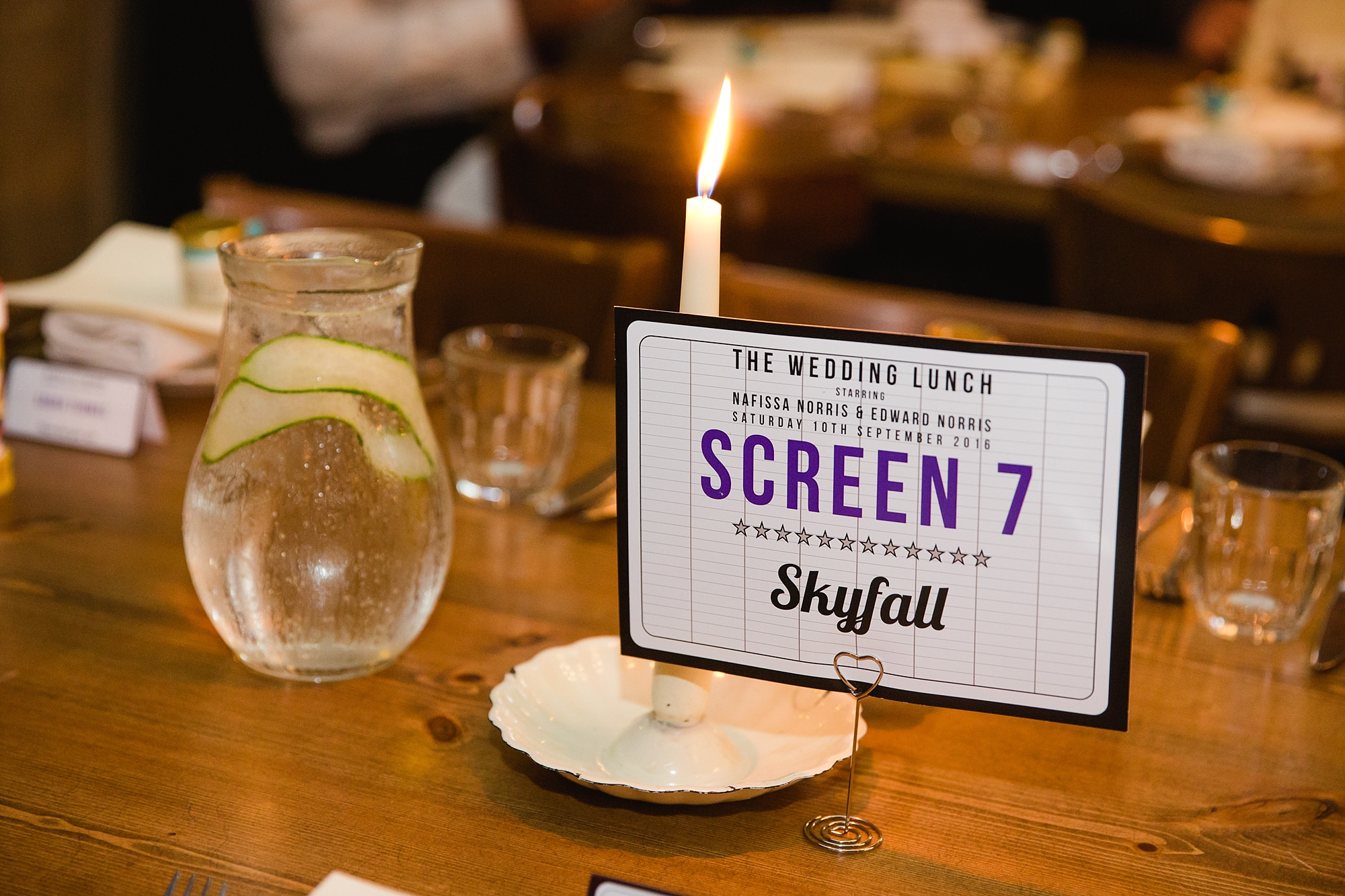 Paradise by way of Kensal Green wedding Bond themed place settings