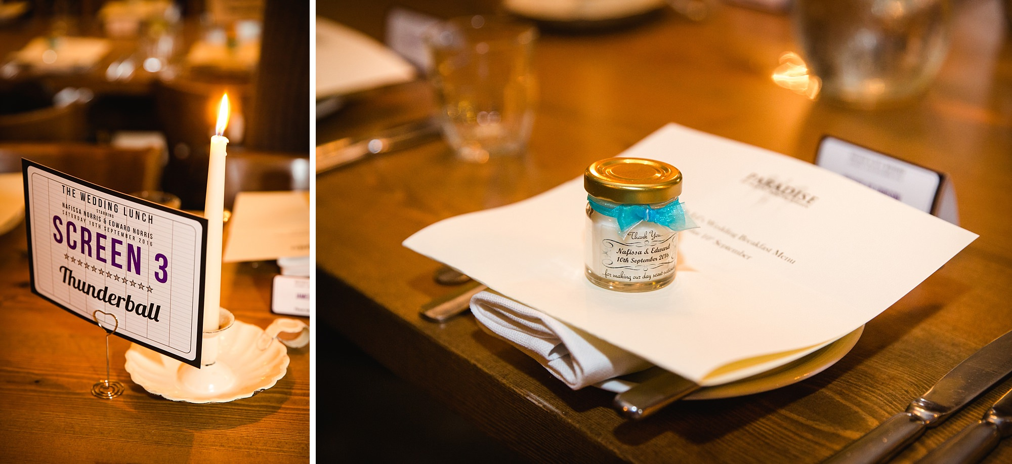 Paradise by way of Kensal Green wedding favours