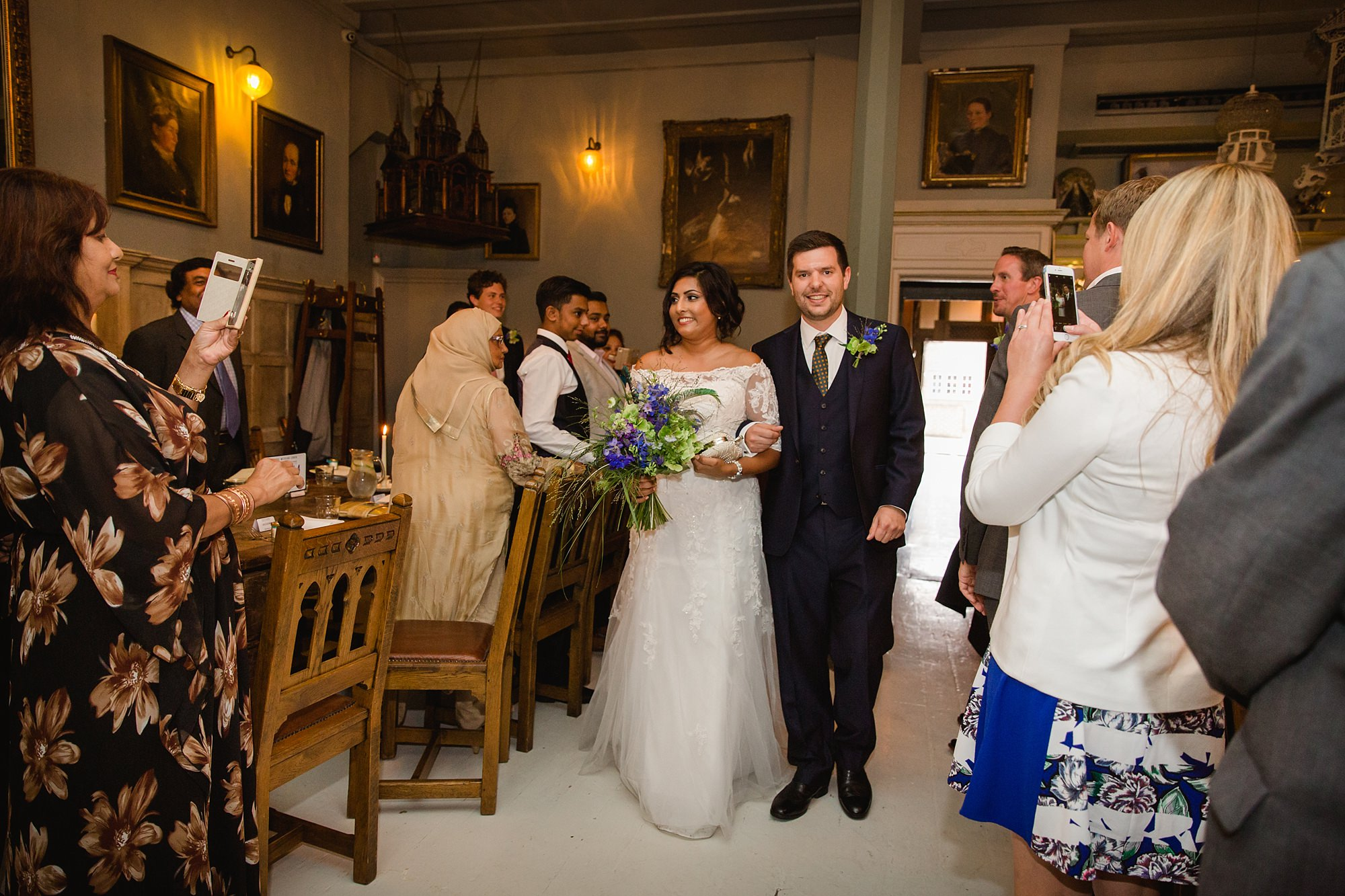 Paradise by way of Kensal Green wedding bride and groom arrival