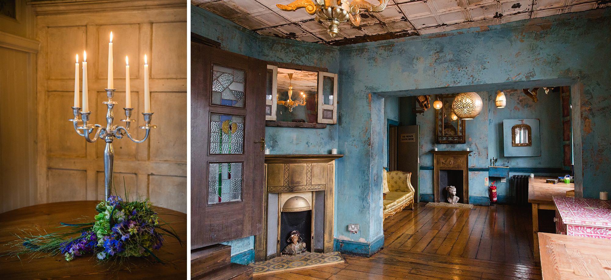 Paradise by way of Kensal Green wedding pub interior