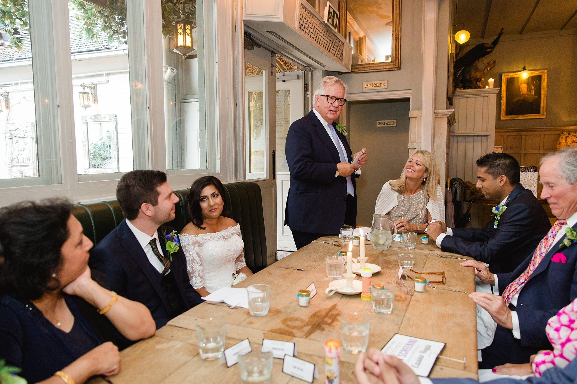 Paradise by way of Kensal Green wedding father of groom giving speech