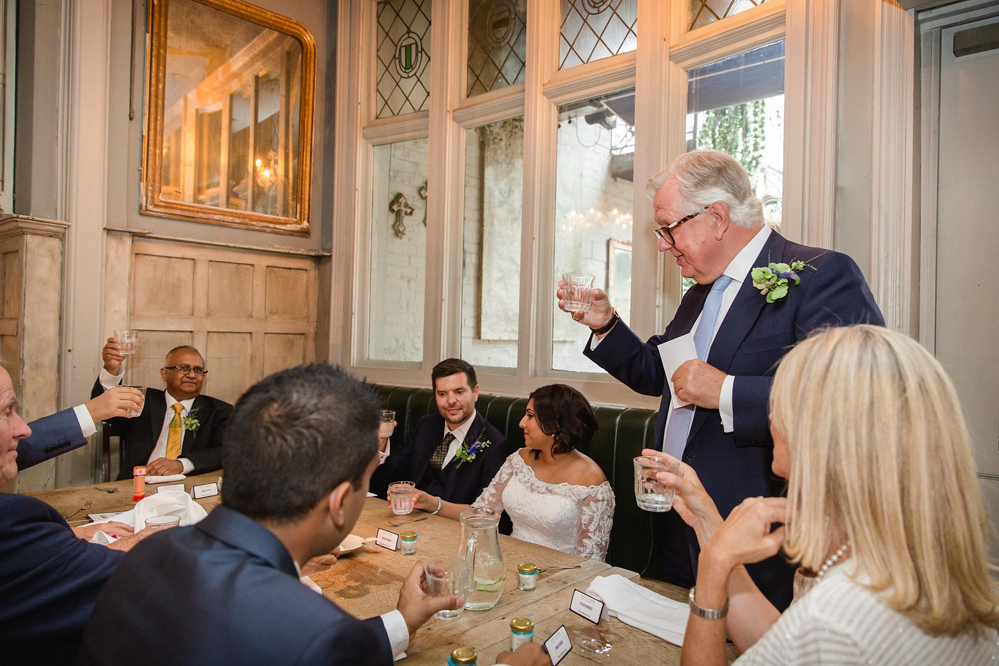 Paradise by way of Kensal Green wedding speech toast