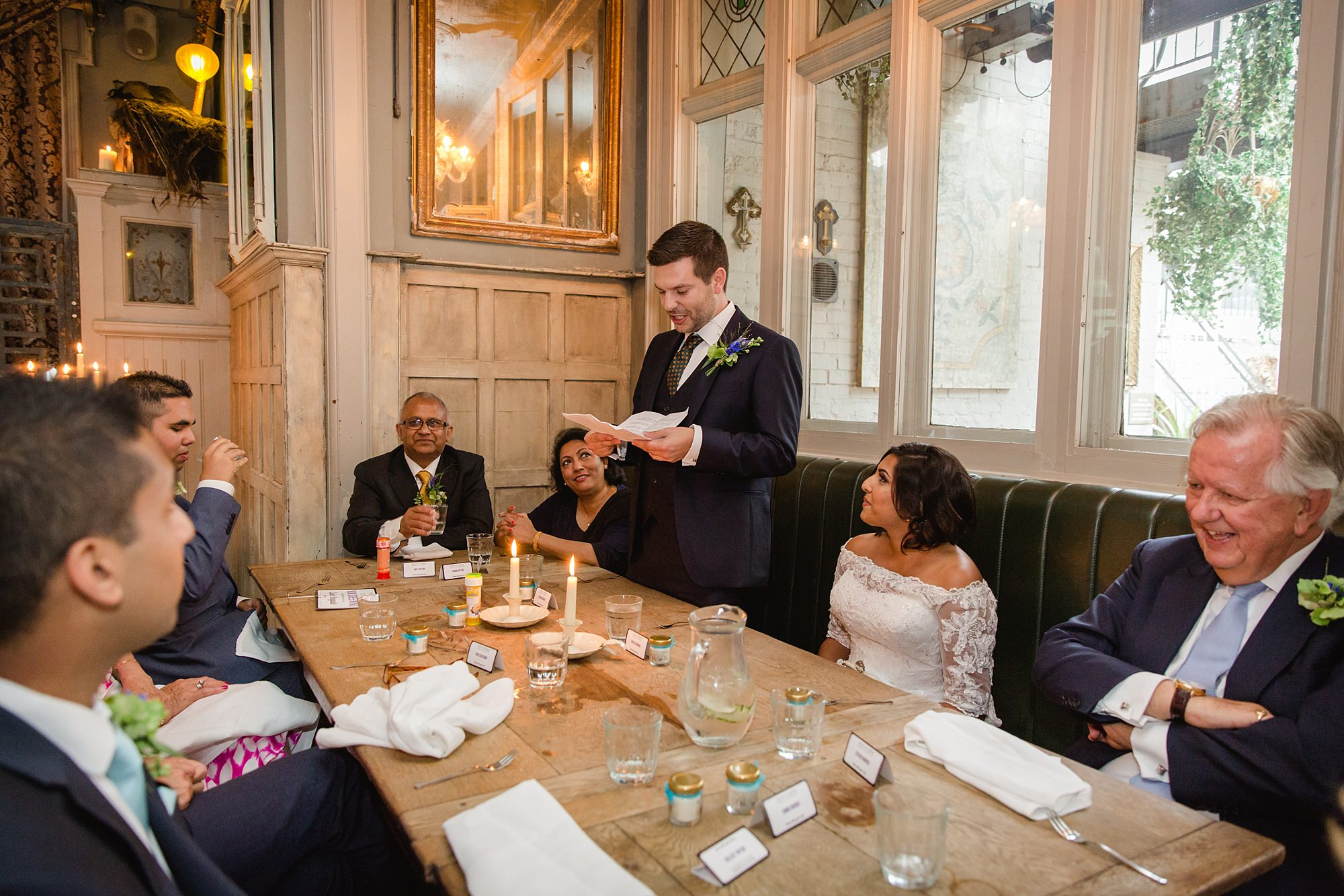 Paradise by way of Kensal Green wedding groom giving speech
