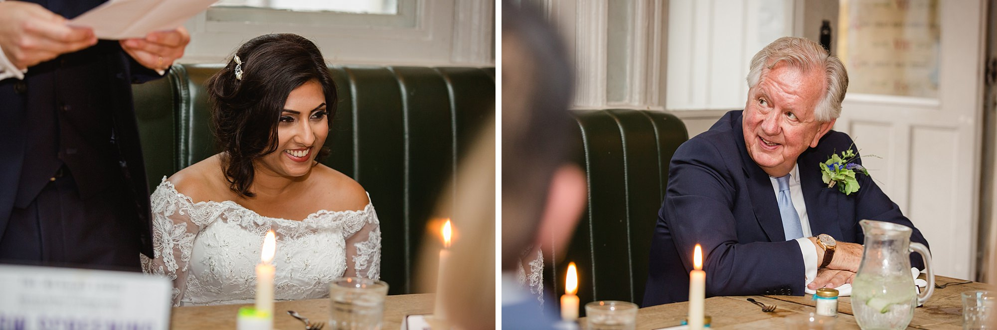 Paradise by way of Kensal Green wedding bride during wedding speech