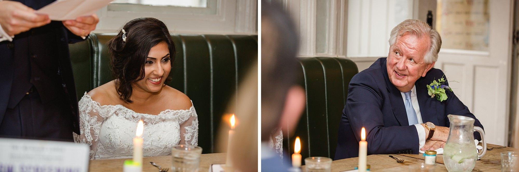 Paradise by way of Kensal Green wedding bride during wedding speech