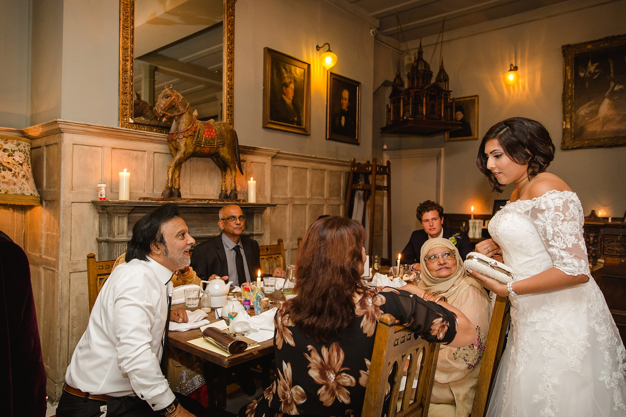 Paradise by way of Kensal Green wedding bride with family and guests