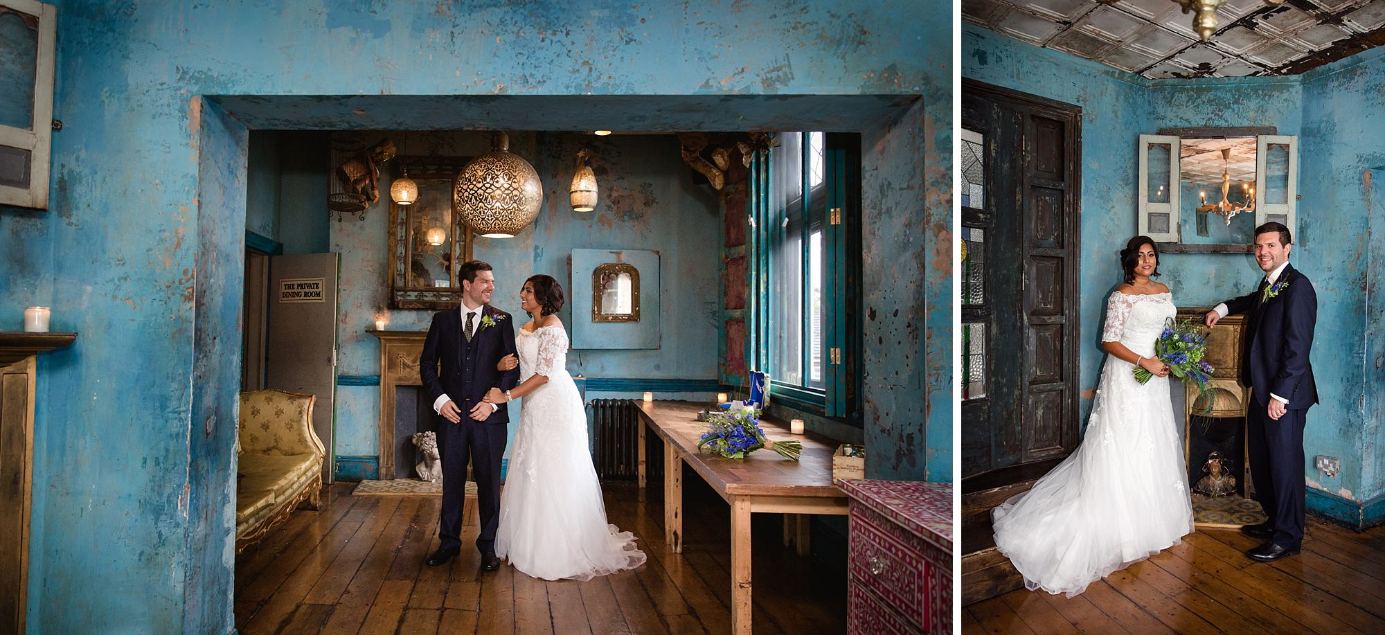 Paradise by way of Kensal Green wedding bride and groom together