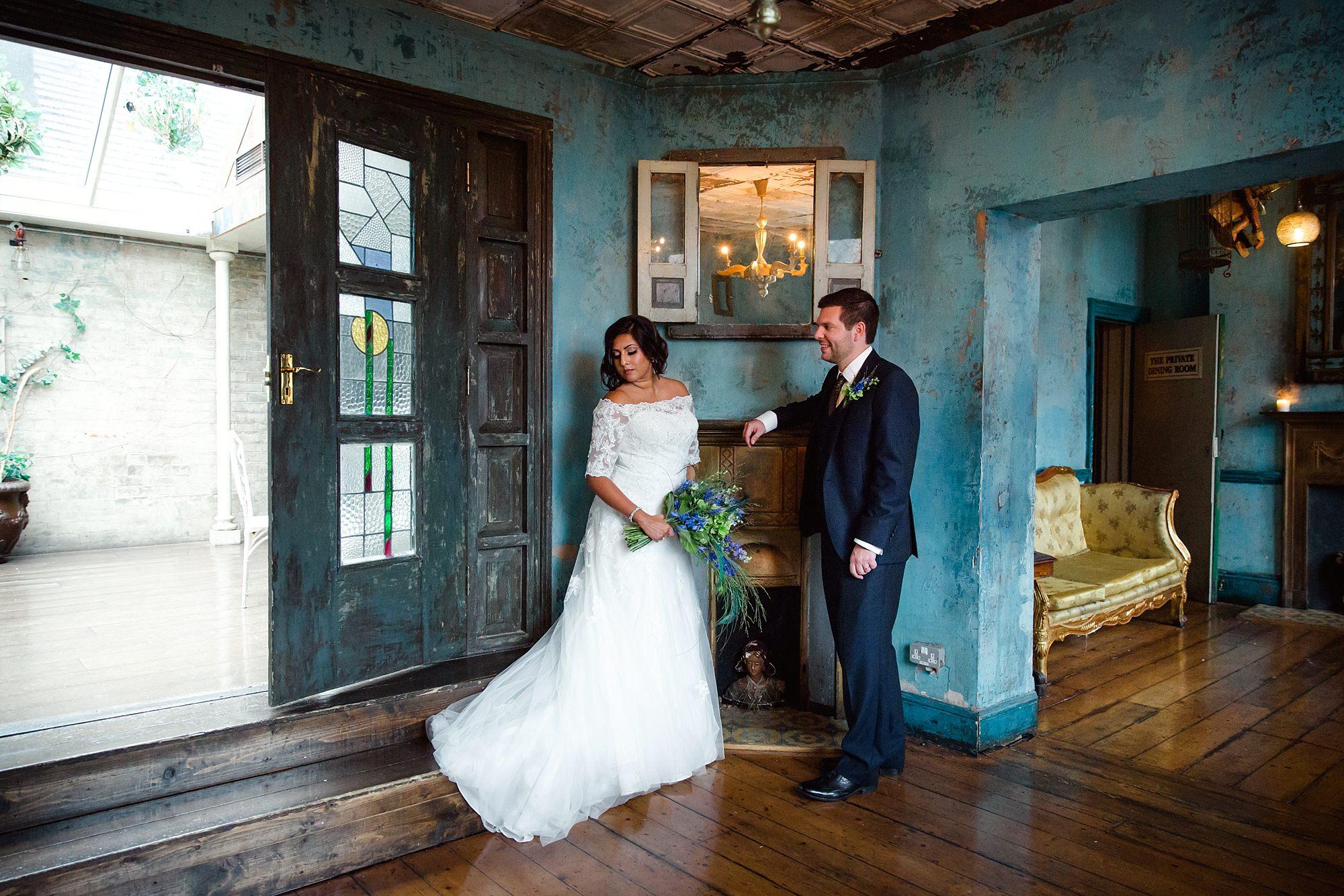 Paradise by way of Kensal Green wedding portrait
